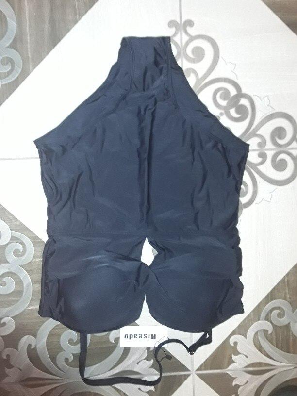 Riseado Gorgeous One Piece Swimsuit Push Up Swimwear Women Bandeau Swimsuits Black Bathing Suits Women 2020 Plus Size XXXL      - AliExpress