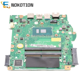 NOKOTION Dla Acer Aspire ES1-572 Płyta Główna Laptopa NBGKQ11002 NB. GKQ11.002 B5W11 LA-E061P SR2ZU I5-7200U CPU DDR4