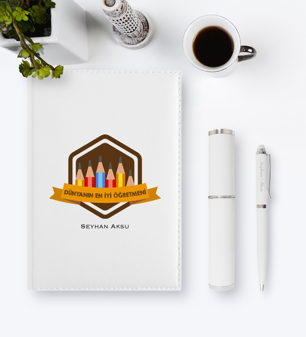 Personalized World Best Teacher 2020 Leather Organizer & Pen Gift Set-21