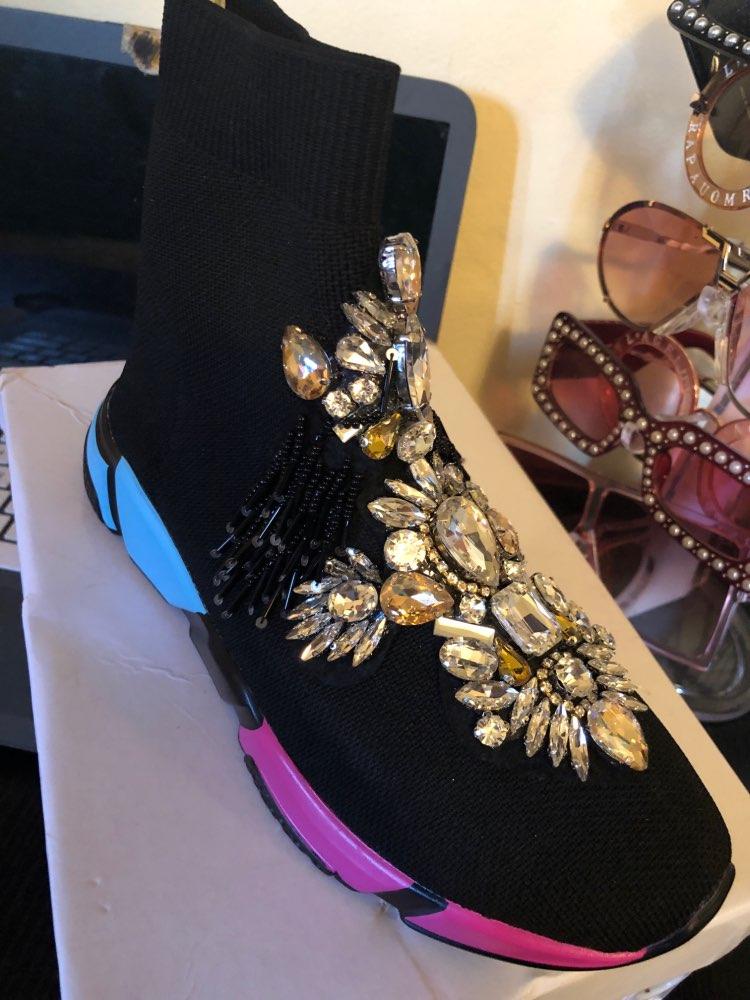 Sapatos de caminhada curtas curtas cristal