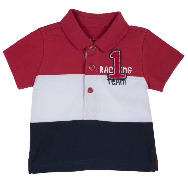 Polo Chicco, size 086, red-white-black stripe