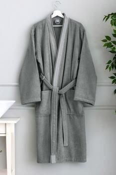 Lc Waikiki Robe Gray Color Men 'S Clothing bathing suits cotton production with pockets robe free shipping шорты lc waikiki lc waikiki mp002xm23vbm