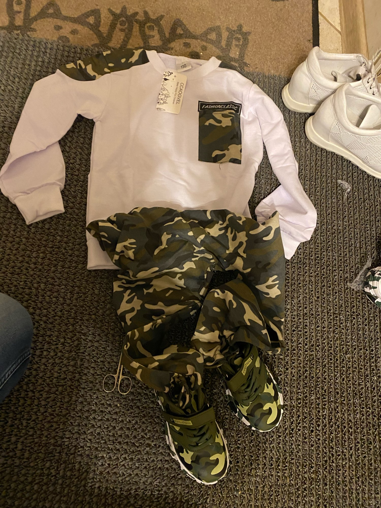 2019 Brand New 2-9Y Toddler Kids Baby Boy Clothing Set Pocket Pullover Tops Camo Pant 2PCS Outfits Tracksuit Long Sleeve Outfits photo review
