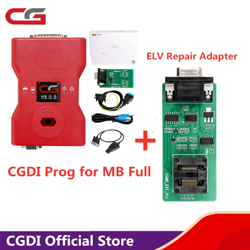 <font><b>CGDI</b></font> <font><b>Prog</b></font> for <font><b>MB</b></font> <font><b>Key</b></font> <font><b>Programmer</b></font> Global Version For Benz Support All <font><b>Key</b></font> Lost with ELV Repair Adapter image