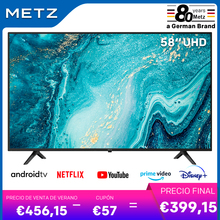 Televisión 58 pulgadas SMART TV METZ 58MUB6010 ANDROID TV 9,0 UHD Google asistente pantalla grande Control remoto por Voz 2 años de garantía