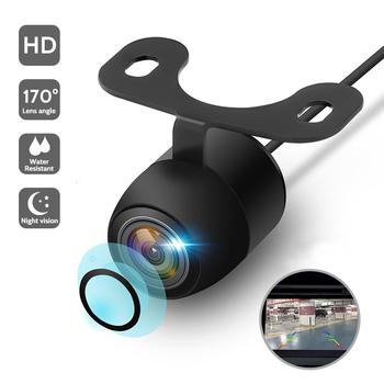 Nowa kamera HD Night Vision tylna kamera samochodowa 170 ° szerokokątna kamera cofania wodoodporna CCD LED dodatkowa samochodowa Monitor uniwersalny tanie i dobre opinie ToHayie Szkło Drutu Pojazd backup kamery Z tworzywa sztucznego