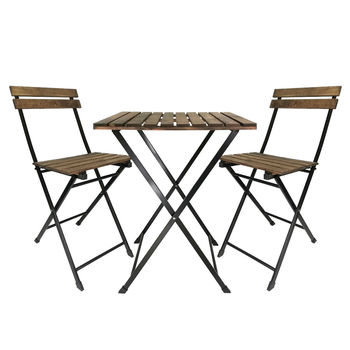 Zestaw do Bistro ogród stół z krzesłami Bistro stół krzesło stół ogrodowy stół ogrodowy krzesło składany stół składane krzesło tanie i dobre opinie TR (pochodzenie) 123145 Ogród zestaw Meble ogrodowe Nowoczesne Krajem ameryki Drewniane