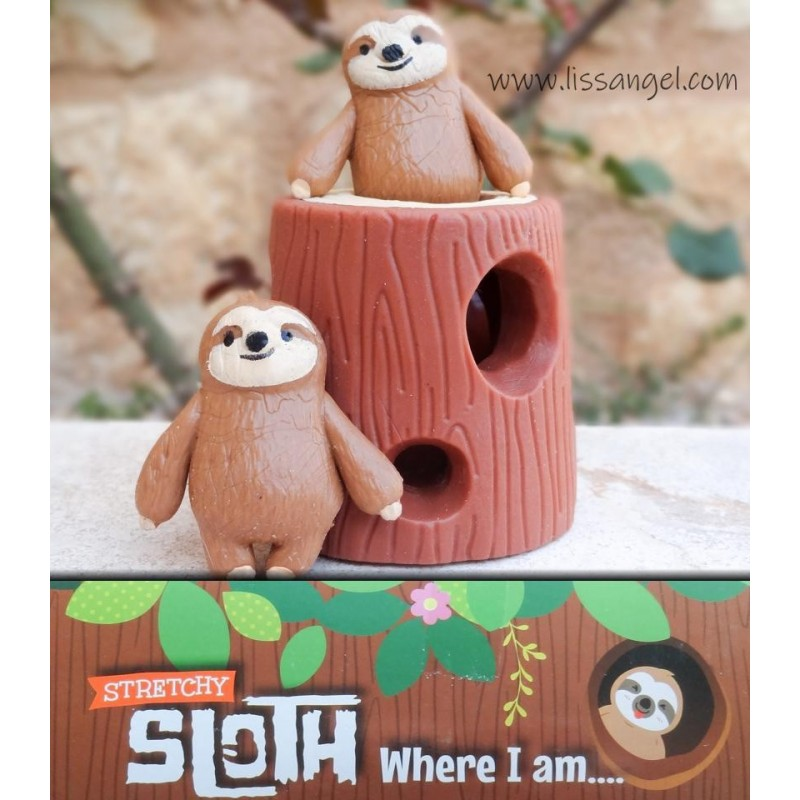 Set Of 3 Squishies: Sloths On Their Log