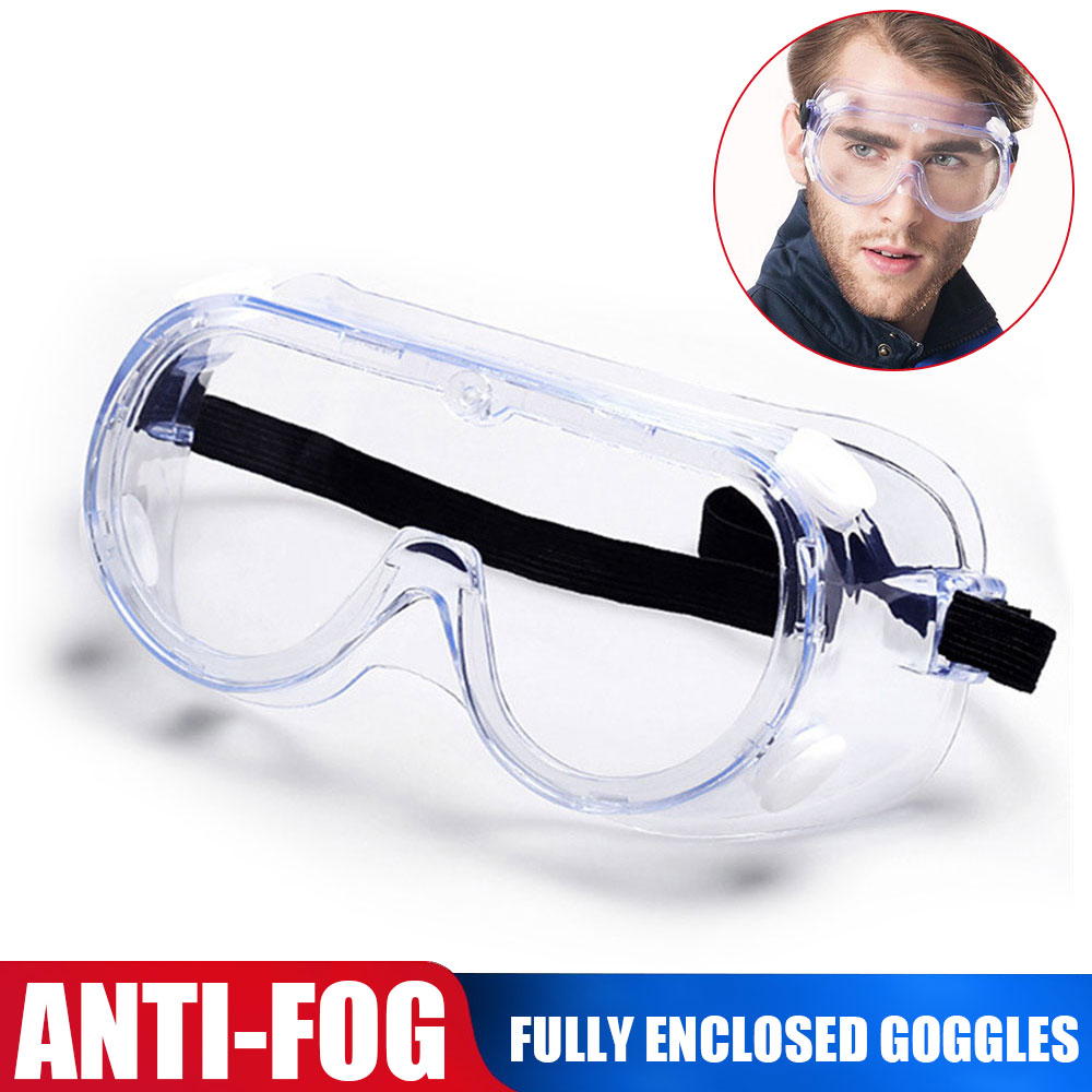 Totally Closed Glasses Anti-wind Safe Glasses Anti-sneeze Liquid Anti-saliva Anti-fog Goggle Sport Goggle PC Eye Protection