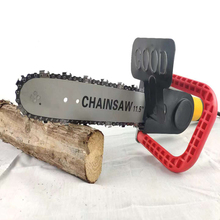 11.5/16  Inch Chainsaw Bracket Changed 100 125 150 Electric Angle Grinder M10/M14/M16 Into Chain Saw Woodworking Power Tool Set цена