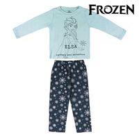 Çocuk pijama dondurulmuş 74741 turkuaz lacivert -