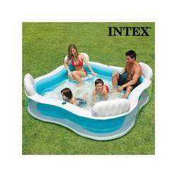 Inflatable Pool Family Seats Summer Intex