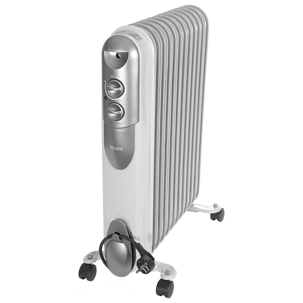 Heater Oil Resanta ОМПТ-12Н (Power 2500 W, 12 sections, adjustment heating) heater oil resanta омпт 7н power 1500 w 7 sections adjustment heating