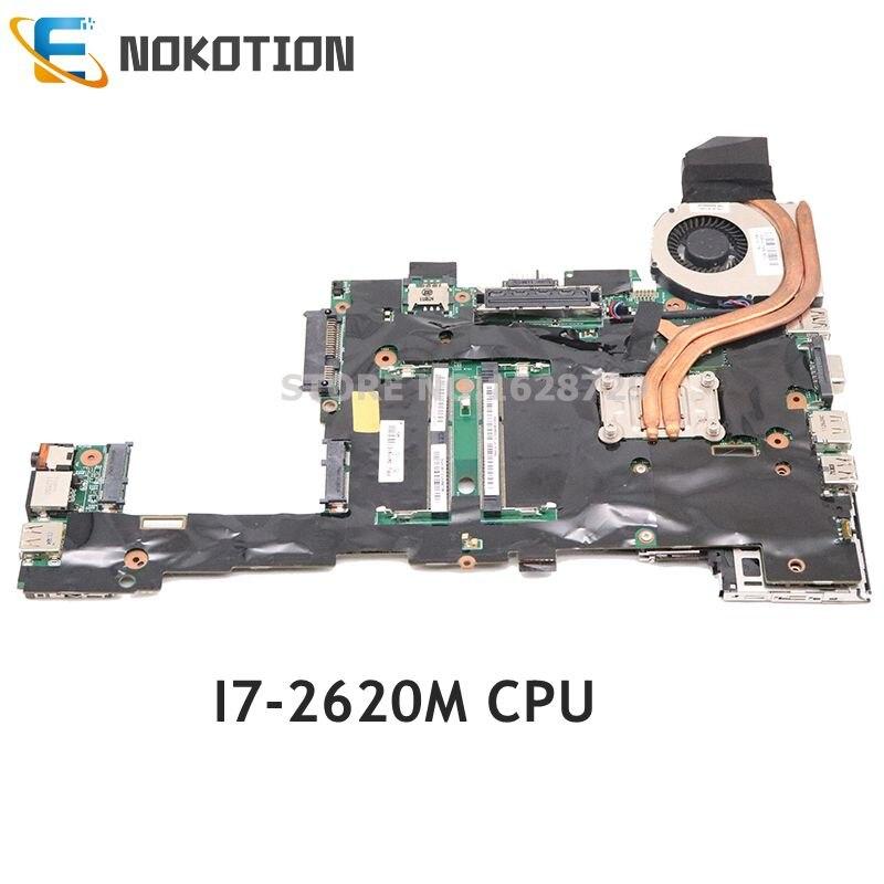 NOKOTION Laptop Motherboard For Lenovo Thinkpad Tablet X220 X220T I7-2620M CPU QM67 GMA HD3000 DDR3 04Y1810 MAIN BOARD