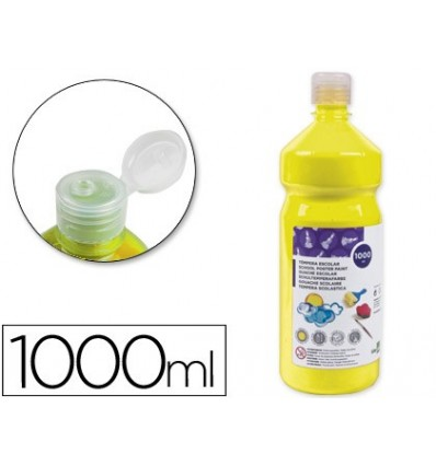 TEMPERA LOW CLEARANCE LIDERPAPEL SCHOOL 1000 ML YELLOW