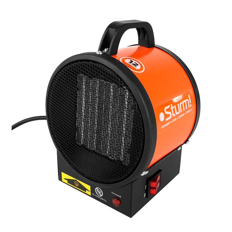 Fan heater Sturm! FH2022C (Power 2000 W, 2 working modes, overheat protection, air flow 100 m? /h, air blower gasoline husqvarna 350 bt power 1600 w benz engine 50 2 cc regul air rate up to 80 m s