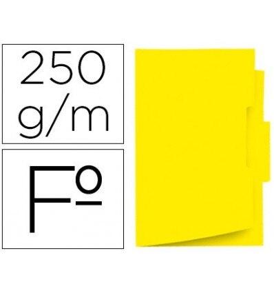 SUBFOLDER CARDBOARD GIO FOLIO EYELASH CENTRAL 250G/M2 YELLOW 50 Pcs