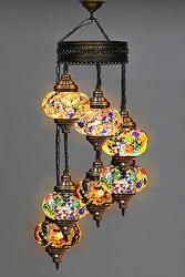 Artykuły gospodarstwa domowego  lampa mozaikowa  lampa z turecką mozaiką  oświetlenie  żyrandol  żyrandol osmański  szklana lampa mozaikowa  lampa wisząca