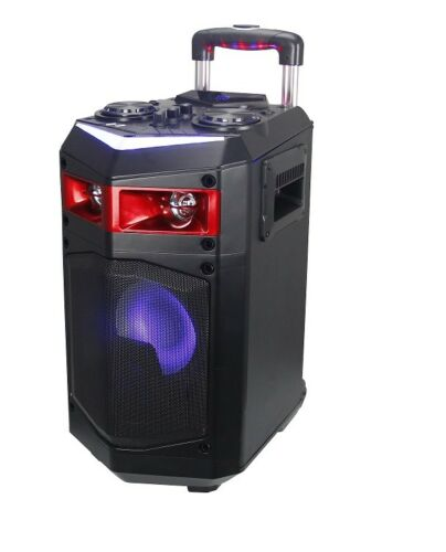 SPEAKER TROLLEY WITH WHEELS LAPTOP SPEAKERS USB BLUETOOTH KARAOKE LED 60W