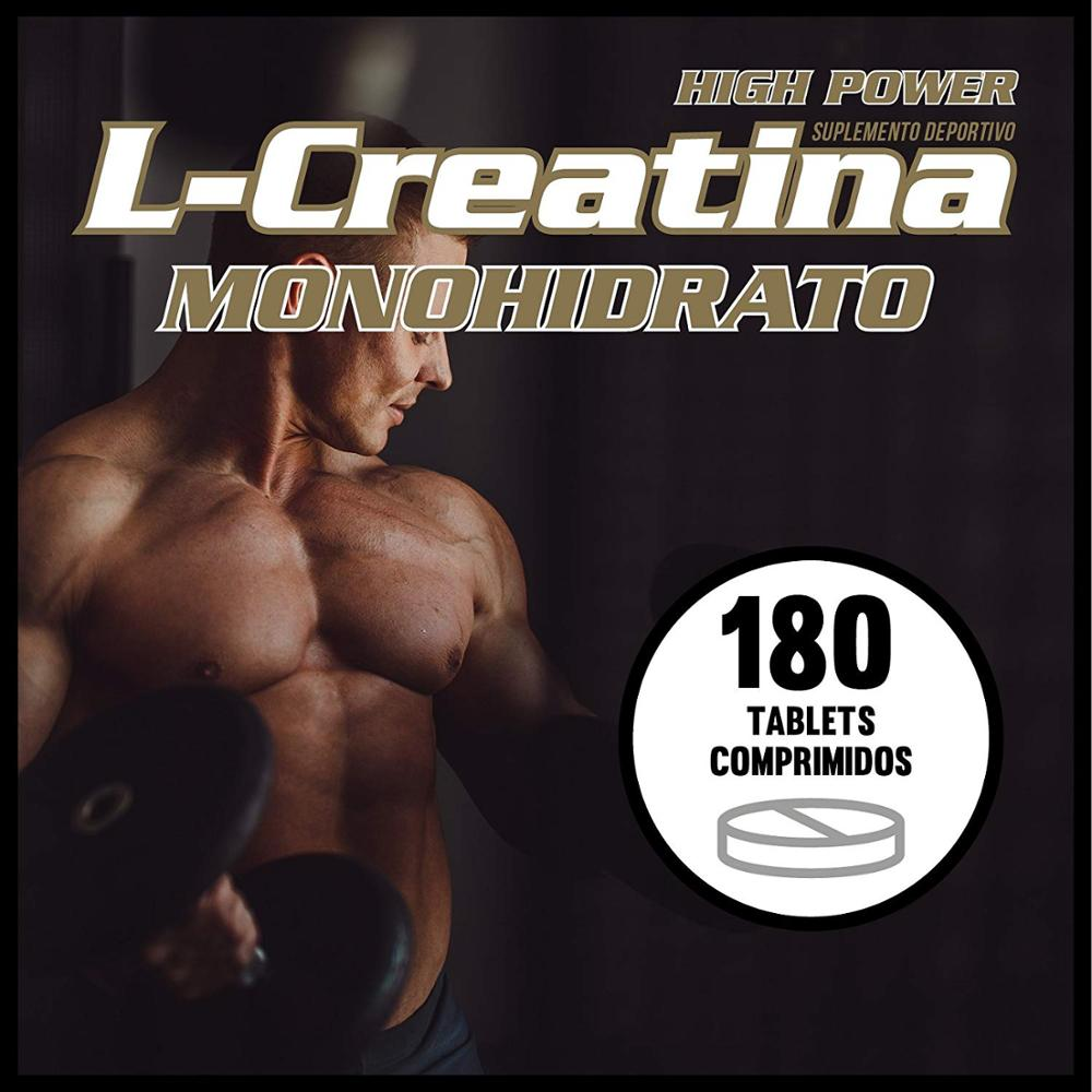Creatine monohydrate | Sports supplement | Increases the sports performance and the mass | 180 tablets Qualnat 3