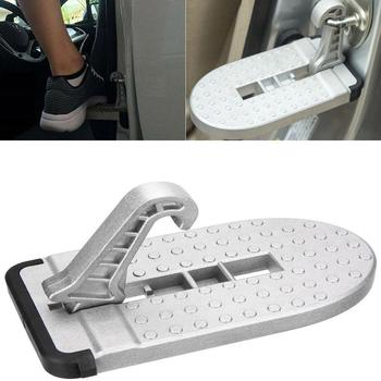 1pc Folding Car Door Latch Hook Step Mini Foot Pedal Ladder For Jeep SUV Truck Roof