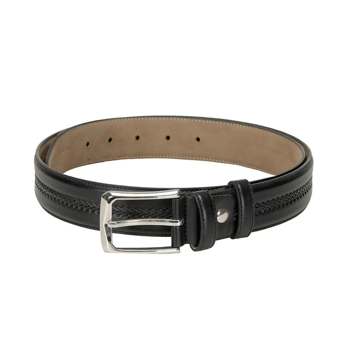 FLO MVZYN3405 Black Male Belt Garamond