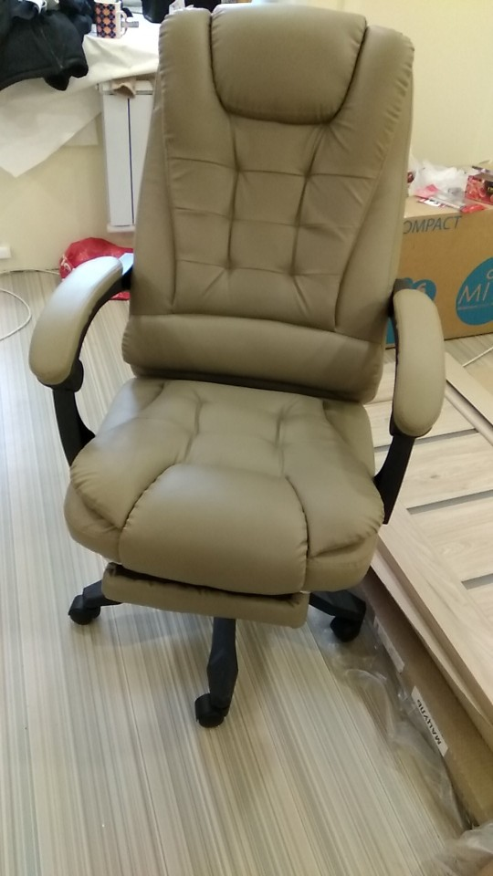 High quality office chair, computer chair, ergonomic chair with footstool-in Office Chairs from Furniture on AliExpress