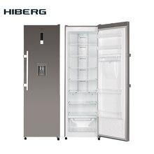Холодильник однокамерный HIBERG RF-35D NFX, фасад нержавеющая сталь, объем 341 л, No Frost, ручка легкого открывания, диспенсер для воды, светодиодная подсветка камеры, многопоточная система охлаждения