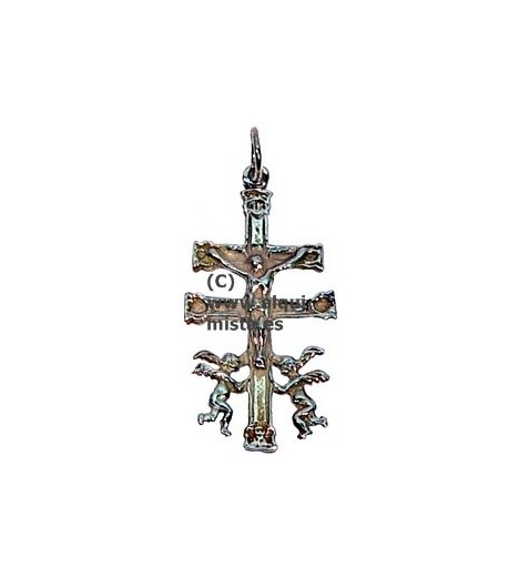 CROSS CARAVACA BIG SILVER 4 Cm
