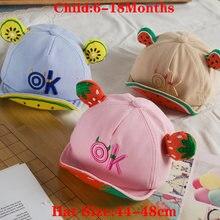 Модная хлопковая Детская шляпа с надписью «ok» детские бейсбольные