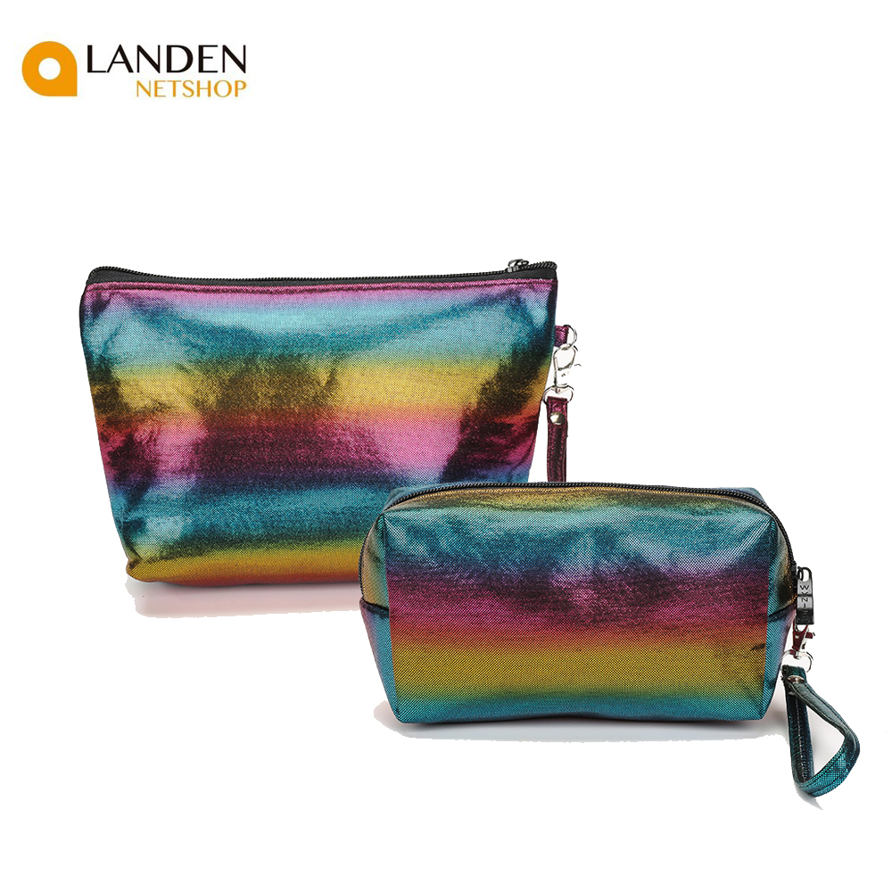 Color Laser Made Handbag Cosmetic Organizer Makeup Bag Surface Travel Bags Multifunctional Fashion Cosmetic Bag