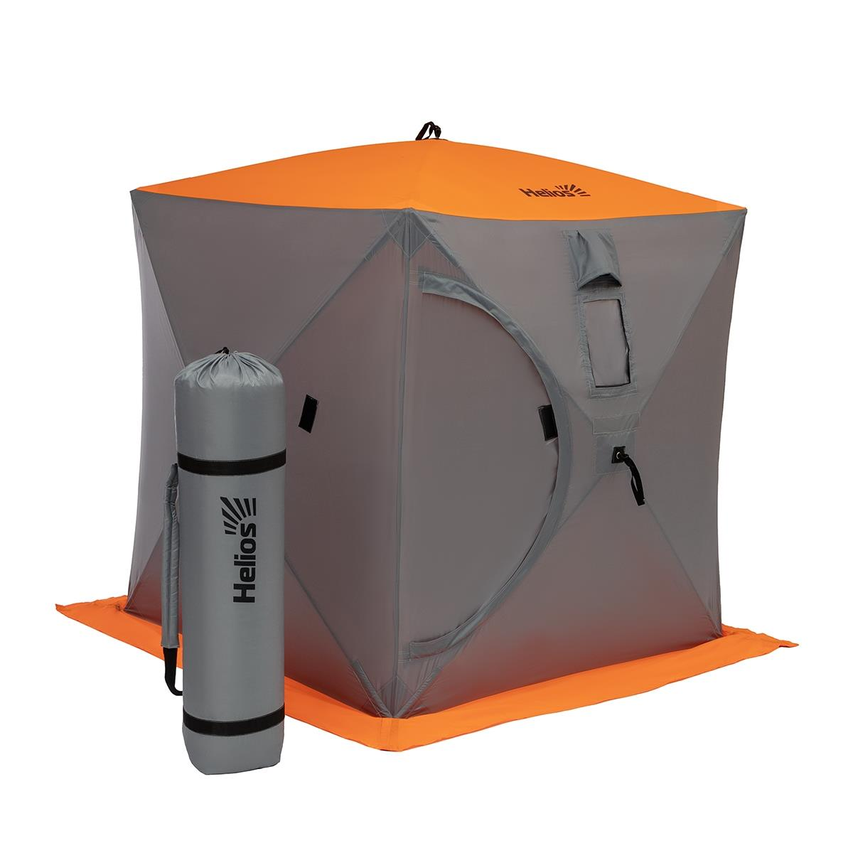 Tent Winter Cube 2th Spot For Cold Ice Fishing Winter 1,5 X1, 5 Orange Lumi/gray Helios (HS-ISC-150O