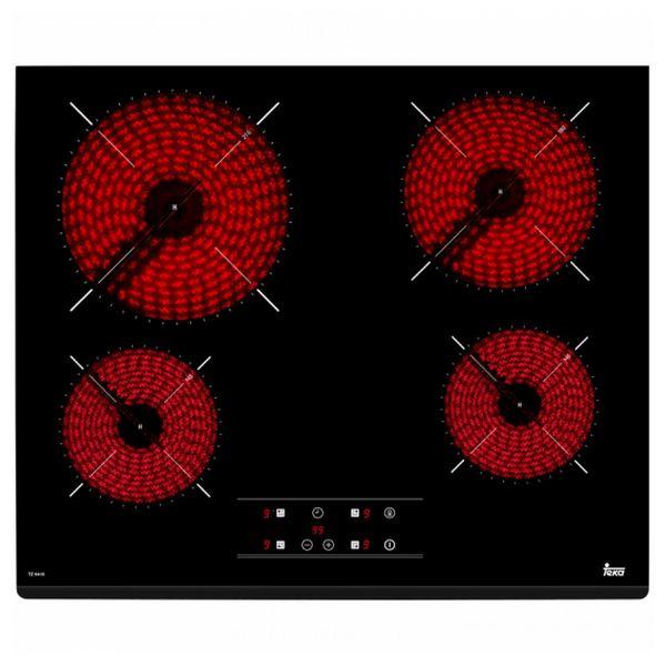 Glass-Ceramic Hob Teka TZ6418 60 Cm Black (4 Cooking Areas)