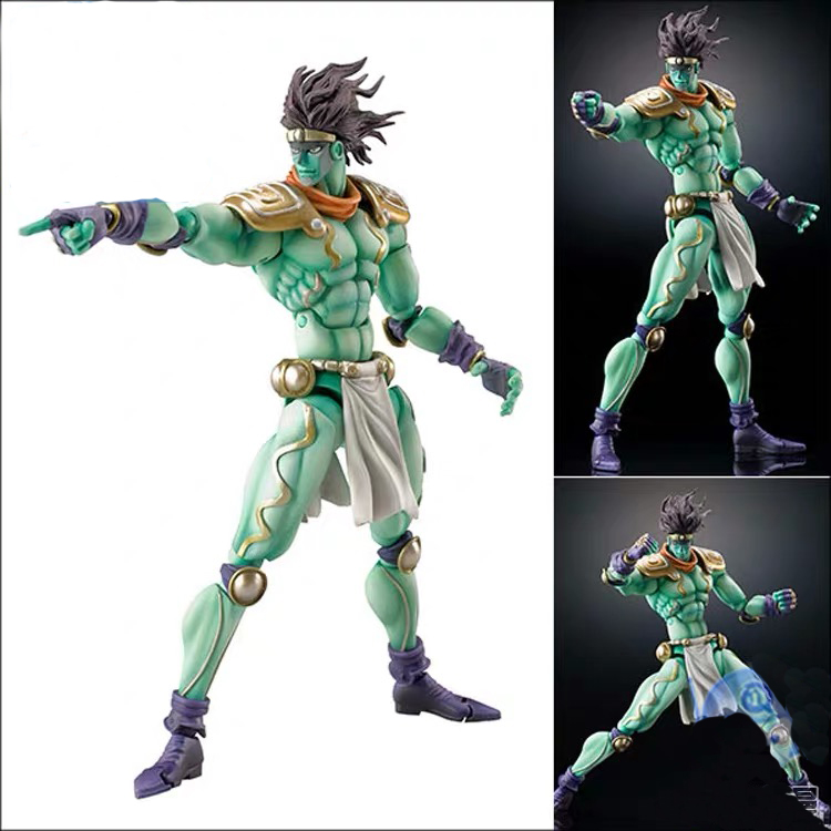 In Stock JoJos Bizarre Adventure StardustCrusaders Star Platinum Super Action Statue PVC Figur Model figure Dolls