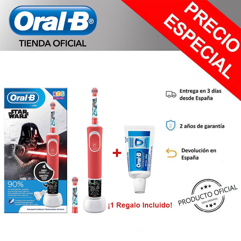 Oral B Vitality KIDS characters Star Wars Plus Box order child rechargeable electrics Toothbrush over 3years image