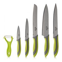 Set of kitchen knives 5 pieces + peeler Walmer vegan  Green|Kitchen Knives|   -