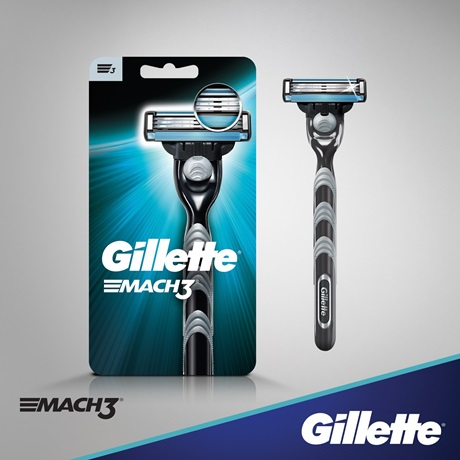 Gillette Mach3 mens razor with 1 replaceable cartridge