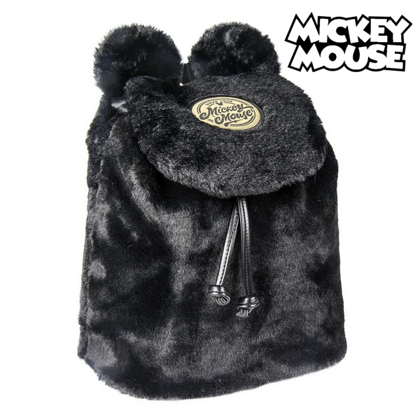 Casual Backpack Mickey Mouse Black