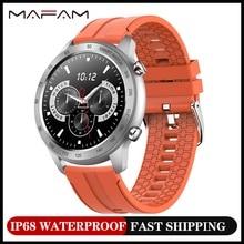 MAFAM MX5 חכם שעון קצב לב צג BT שיחת מוסיקה השמעה IP68 Waterpr גברים של שעונים 3pro לxiaomi Huawei iphone
