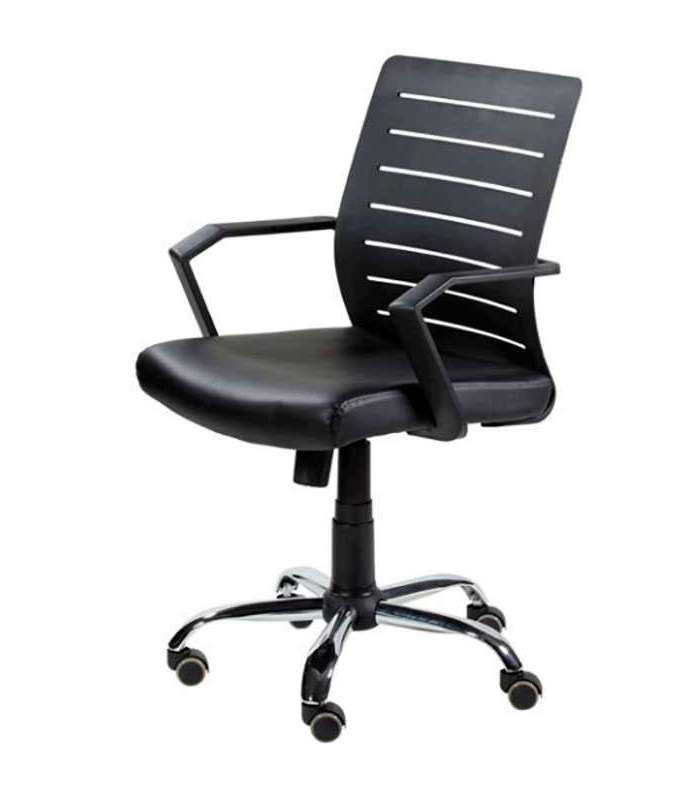 Swivel Chair Gas With Arms Black