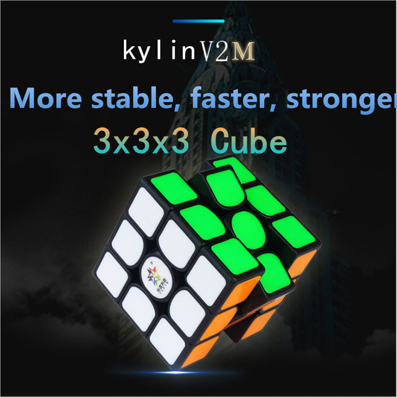 Yuxin 3x3x3 Cube Kylin V2M Magnetic 3X3X3 Magic Cube Yuxin Kylin V2 M 3x3 Magnetic Speed Cube Zhisheng KylinV2 M 3x3 Magic Cubo