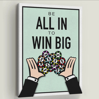 ALL IN TO WIN Wall Art Canvas Painting Surrealism Abstract Art Wall Pictures Print For Living Room