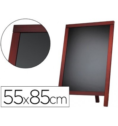 SLATE BLACK LIDERPAPEL STAND AND MARCO WOOD 'S WITH SURFACE FOR MARKERS TYPE CHALK 55X85CM