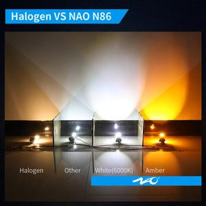 Image 2 - ナオH11 led HB4 フォグライトH8 HB3 H10 8 ワット 2000Lm自動H16 9005 9006 ブラブ 4SMD 1860 チップホワイトアンバー車の運転日ランニングランプ