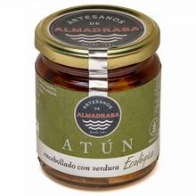 Tuna Ventresca jar encased with vegetables and Extra virgin olive oil 250 grams | Almadraba craftsmen