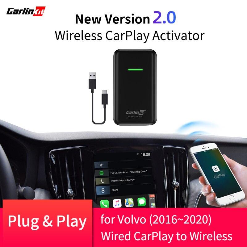 2020 ativador sem fio carplay para volvo xc90 xc60 xc40 s90 v90 v60 2016-2020 converter carplay com fio para carplay sem fio