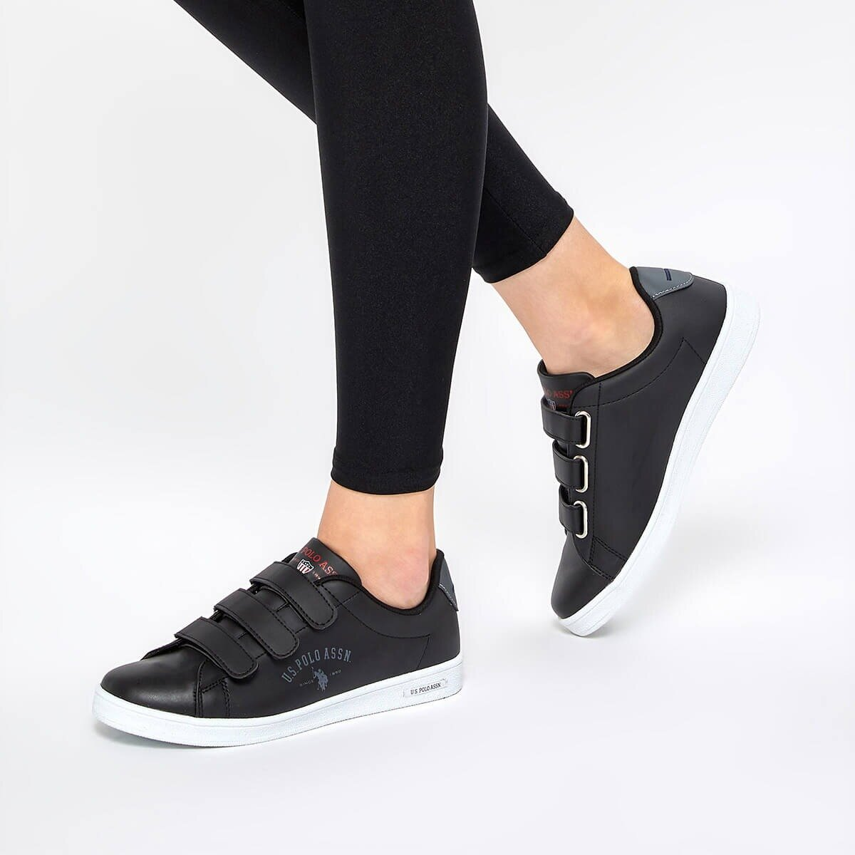 FLO SINGER Black Women 'S Sneaker Shoes U.S. POLO ASSN.