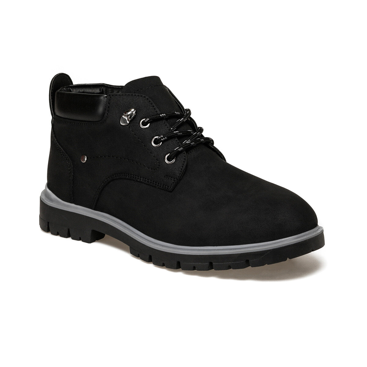 FLO CTN-55 Black Men Boots Panama Club