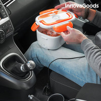 InnovaGoods Electric Lunch Box for Cars 40W 12 V White Orange|Lunch Boxes| |  -