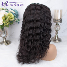 Brazilian Water Wave Part Lace Human Hair Wigs Mid Part Lace Wig Pre Plucked Natural Hairline Remy Brazilian Water Curly Wigs